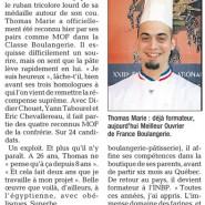 """""""La passion boulangère"""" Dauphiné Libéré 14/11/2007"""