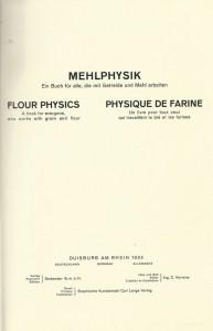 Physique de farine. Un livre pour tous ceux qui travaillent le blé et les farines