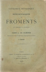 Catalogue méthodique et synonymique des froments qui composent la collection de Henry L. De Vilmorin