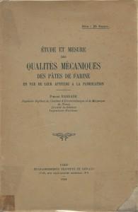 Etude et mesure des qualités mécaniques des pâtes de farine en vue de leur aptitude à la panification