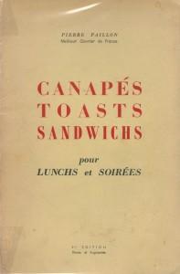 Canapés, Toasts, Sandwichs pour lunchs et soirées