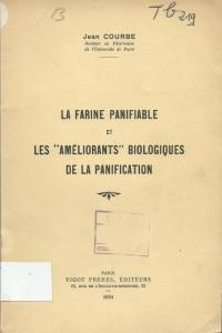 """La farine panifiable et les """"améliorants"""" biologiques de la panification"""