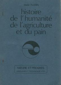 Histoire de l'humanité, de l'agriculture et du pain