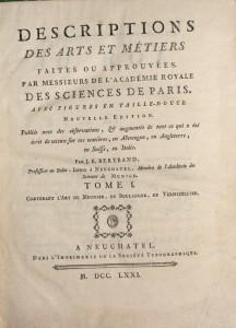 Descriptions des arts et métiers, Tome I : Lart du meunier, du boulanger, du vermicellier