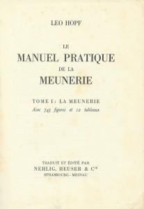 Le manuel pratique de meunerie