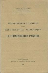 Contribution à l'étude de la fermentation alcoolique - La fermentation panaire