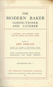 The modern baker confectioner and caterer Vol. I