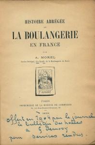 Histoire abrégée de la boulangerie en France
