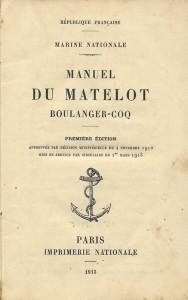 Manuel du matelot boulanger-coq