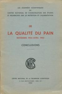 La qualité du pain, Novembre 1954 - Avril 1960, Conclusions